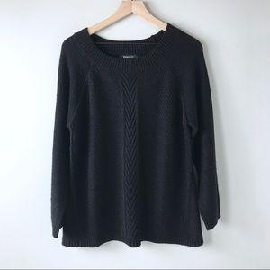 Relativity black sweater women's Large textured